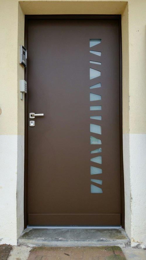 Porte Blinde Maison Finest Charmant Porte Blinde Dans Porte D Accs - Porte placard coulissante jumelé avec fichet serrurerie batiment